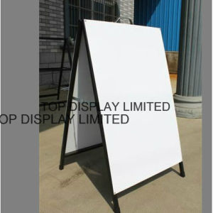 Metal a Frame Signs/Display a Board Advertising Banner Signs Board Display Stand Advertising Equipment Traffic Sign Outdoor Sign pictures & photos