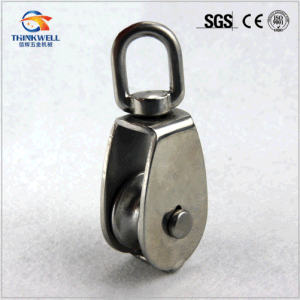 Forging Steel Swivel Rope Pulley with Single Wheel pictures & photos