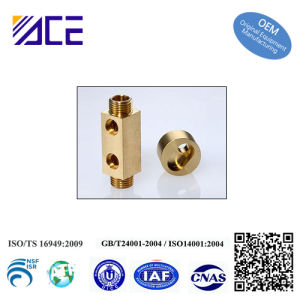 CNC Turned Brass Machining Metal Parts pictures & photos