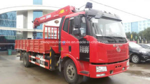 FAW5t 6t 160HP Cargo Truck Mounted with Telescopic Crane Price pictures & photos