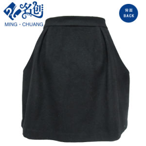 Fashion Ladies Black Skirt with Pockets pictures & photos