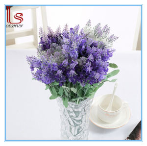 Wedding and Home Decorative Artificial Silk Lavender Flowers pictures & photos