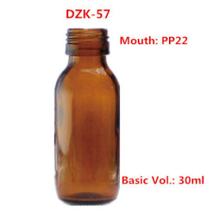 30ml Amber Glass Syrup Bottles pictures & photos