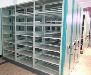Office Filing Archive Storage Steel Custom Metal Mobile Library Shelving pictures & photos