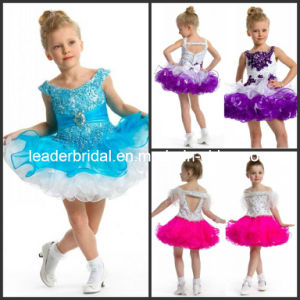 Flower Girl Dress Stage Performance Garment Baby Layered Tiered Dress Short Multi Colors Junior Party Prom Dress F131202 pictures & photos
