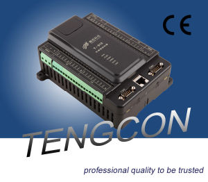 Tengcon Programmable PLC Controller T-910 (8AI/2AO/12DI/8DO) with RS485 and RJ45 Connection pictures & photos