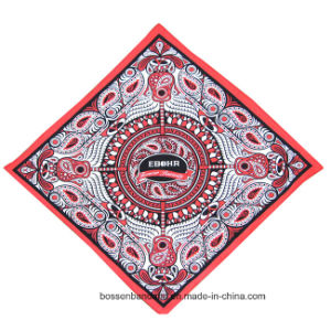 Factory OEM Produce Customized Logo Printed Cotton Head Wrap Big Handkerchief Bandanna pictures & photos