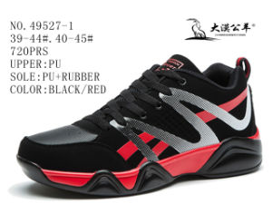 No. 49527 PU Men Casual Stock Shoes pictures & photos