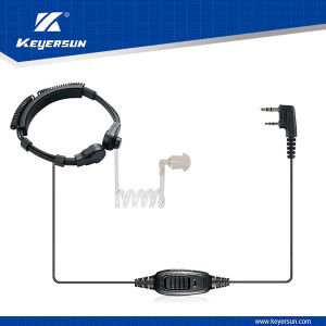 UHF VHF Handheld Transceiver Throat Speaker Microphone