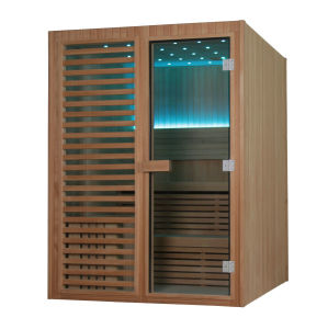 Monalisa Wooden Wet Steam Dry Sauna Room (M-6038) pictures & photos