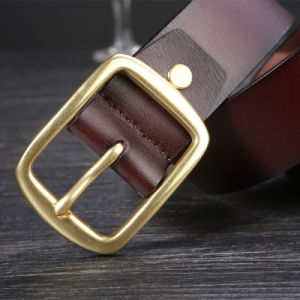 Men Fashion Top Grain Genuine Leather Luxury Strap Male Belts pictures & photos