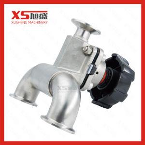 AISI316L Hand T-Shaped Tri-Clamp Diaphragm Valve pictures & photos