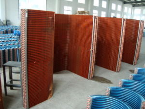7mm Screwed Copper Tube Louvered Fin CO2 Commercial Heat Pump Heat Exchanger pictures & photos
