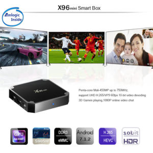 New Chip Ott TV Box X96mini Amlogic S905W Smart Box Android 7.1 4K Full HD Media Player pictures & photos