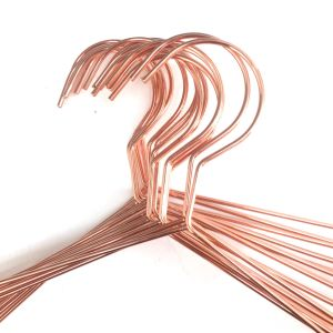 Fashion Copper Hanger Rose Gold Metal Wire Clothes Hanger pictures & photos