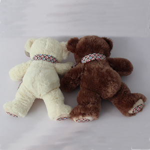Soft Furry Teddy Bear with Ribbon pictures & photos