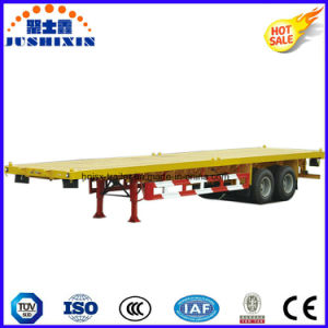 40 Feet 3 Axle Flatbed Container Semi Trailer pictures & photos