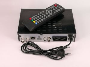 HD DVB-T2 H. 265 Receivers with RJ45 Port and RF out, Supports European and Arabic IPTV pictures & photos