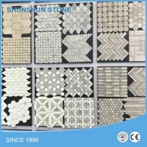 Irregular Shape Green Marble Mosaic Tiles & Pattern pictures & photos