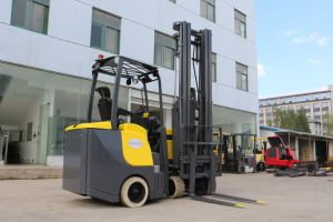 Electric Powered Lifting Truck Vna Narrow Aisle Articulated Forklift pictures & photos
