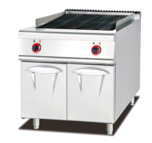 Gas Griddle with Cabinet (2/3 Flat & 1/3 Grooved) pictures & photos