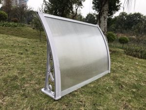 Home Ornamental Plastic Polycarbonate Doors Canopies of 100cm Projection X 120cm Span pictures & photos