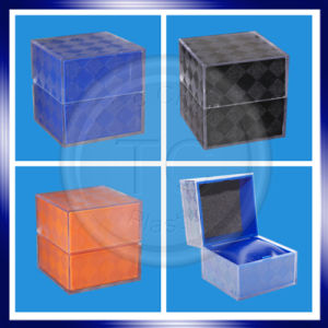 Square Transparent Surrounded by Pattern Watch Plastic Box pictures & photos