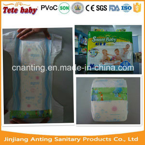 Blue Colour Smooth PE Back Film Disposable Baby Diaper pictures & photos