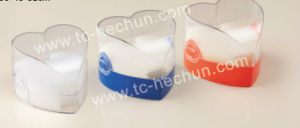 Heart-Shaped Transparent Cover Watch Plastic Box pictures & photos