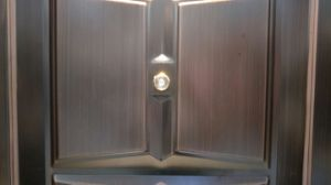 High Quality Copper Coated Security Steel Door Design by China Factory pictures & photos