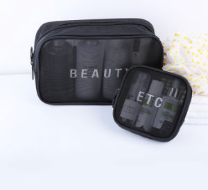 Net Cosmetic Bag Set, Mesh Bag with Zipper Closure pictures & photos