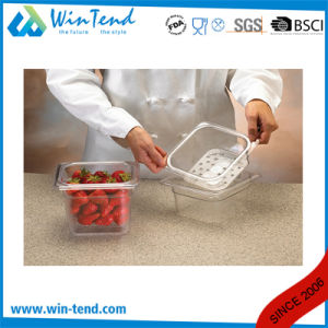 Hot Sale Certificate BPA Free Restaurant Kitchen Transparent Plastic 1/4 Size Dripping Tray pictures & photos