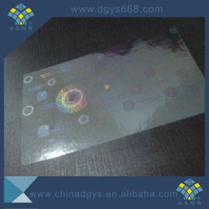 Customzied Laser Transparent Number Hologram Sticker pictures & photos