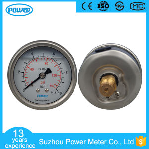 63mm Glycerin Liquid Pressure Gauge 10 Bar and Psi pictures & photos