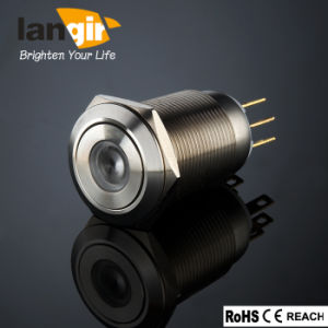 DOT LED Latching Vandal Resistant Push Button Switch SL19 (19mm) Made of Stainless Steel pictures & photos