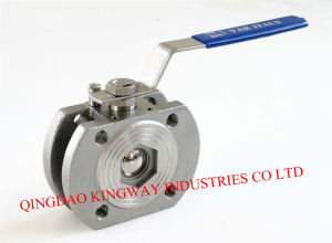 Stainless Steel 1PC Wafer Flanged Ball Valve. pictures & photos