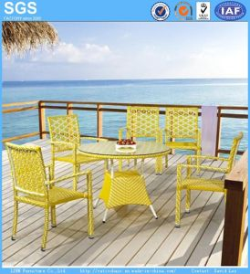 Seaside Outdoor Restaurant Dining Set Rattan Wicker Table and Chairs Garden Set pictures & photos