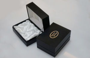 Custom Printed Black Jewelry Paper Boxes for Gifts (FLB-9306) pictures & photos