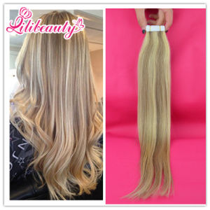 Virgin Remy Hair Seamless PU Skin Weft Tape Hair Extension pictures & photos