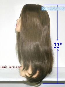 "Top Fashion 100% Human Hair Sheitels Kosher Wigs-22"" pictures & photos"
