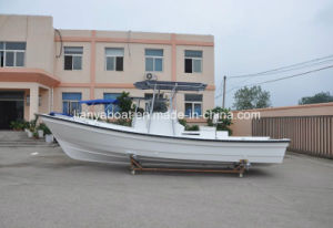 Liya 7.6m Professional Fish Boat Fiberglass Cabin Fishing Boat pictures & photos