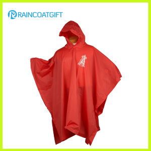 Promotional Adult Red PVC Raincoat Rvc-142 pictures & photos