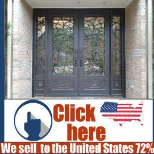 Cheap Price Metal Wrought Iron Door Gate pictures & photos