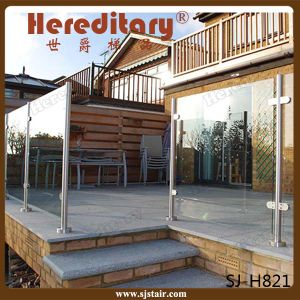 Exterior Front Porch Stainless Steel Glass Baluster for Railing (SJ-H821) pictures & photos