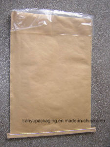Brown Sewn Open Mouth Kraft Paper Bags with PE Film pictures & photos
