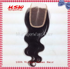 Chinese Hair Freestyle Body Wave Lace Top Closure pictures & photos