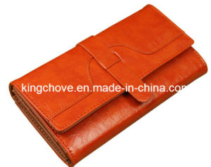 Fashion Orange PU Long Shape Wallet (KCW29) pictures & photos