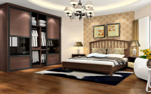 High Quality Modern Cheap Wooden Sliding Door Wardrobe (zy-028) pictures & photos