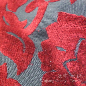Jacquard Polyester and Acrylic Home Textile Chenille Fabrics pictures & photos