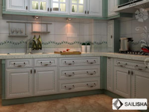 Turkish Modern Home Hotel Furniture Island Wood Kitchen Cabinet pictures & photos